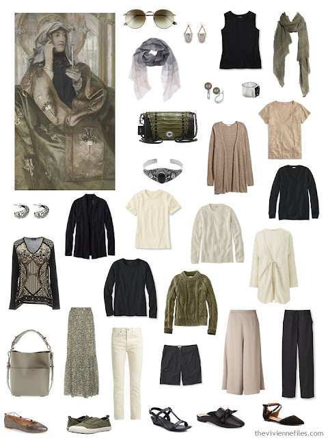 L'Encens by Ferrand Khnopff with a wardrobe inspired by the painting