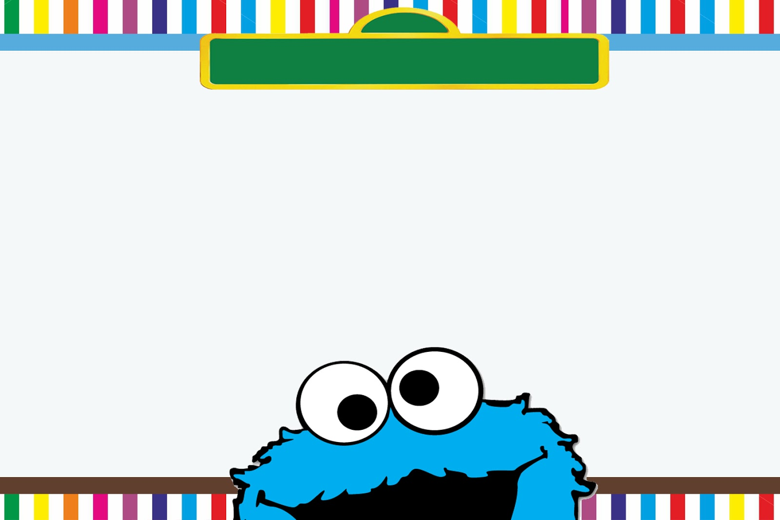 moster templates - moms kiddie party link freebie sesame street elmo and