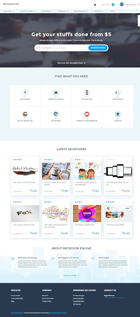 MicrojobEngine-Best Job Marketplace WordPress Theme