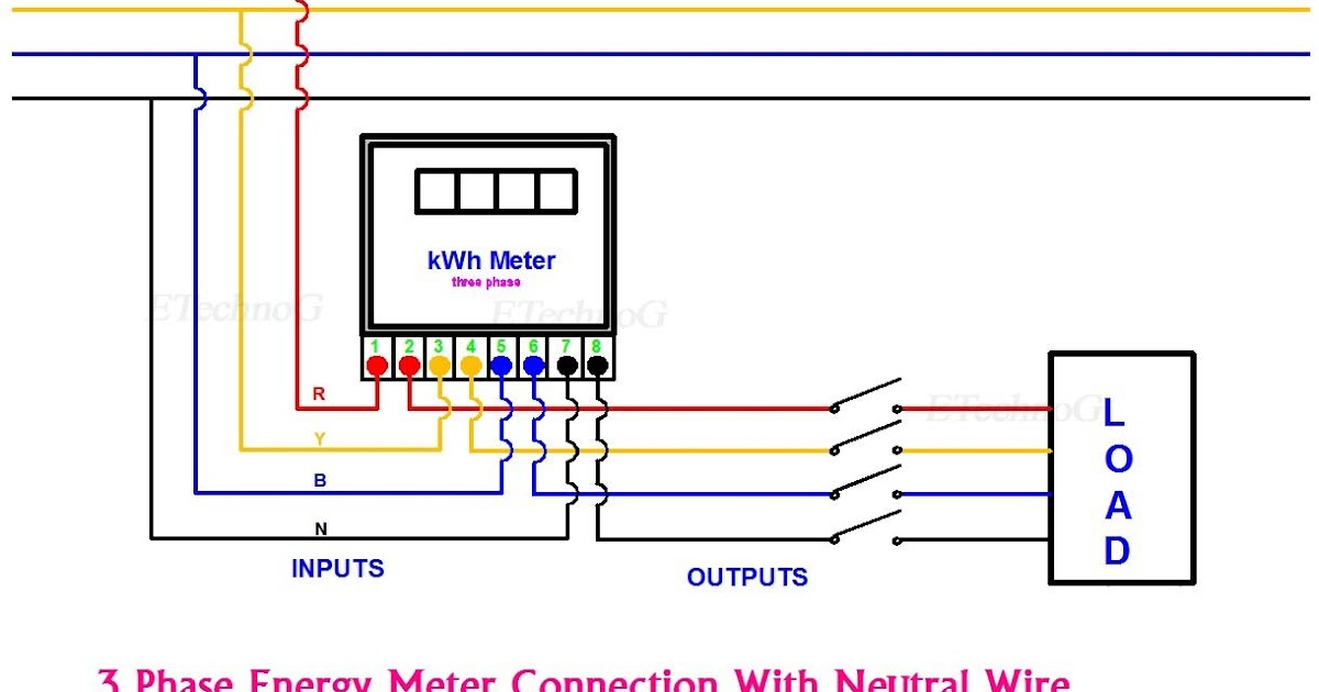 Wiring Diagram Kwh Meter 3 Phase