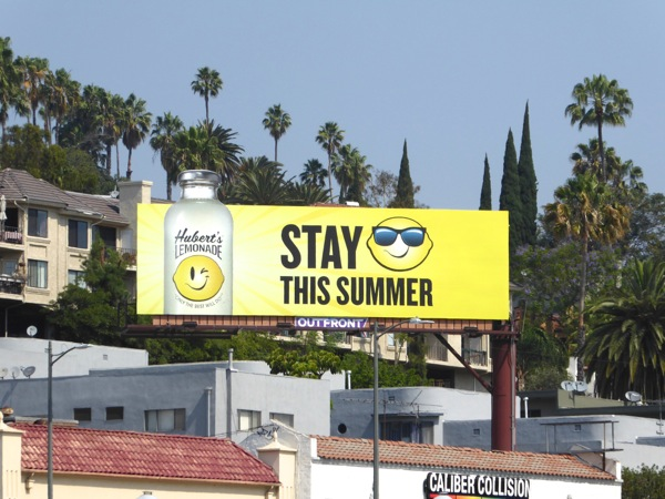 Hubert's Lemonade Stay cool this Summer billboard