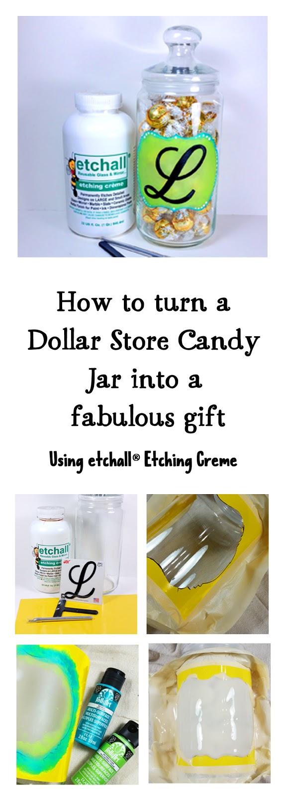 Dollar Store jar turned Candy Dish