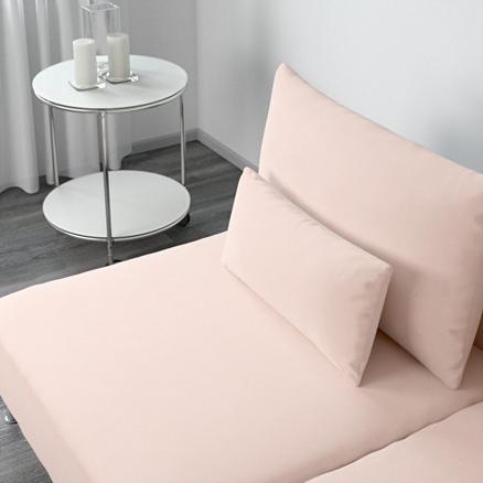 Ikea canapé rose