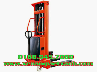www.123nhanh.com: Xe nâng điện bán tự động 1,5 tấn nâng cao 2m và 3m3 giá