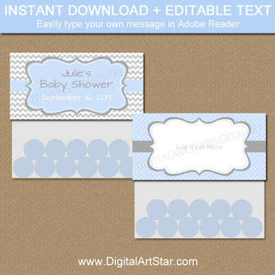 printable baby shower treat bag toppers