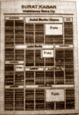 Format Perwajahan dalam Surat Kabar, reka bentuk surat kabar, jurnal rozak, unbalance make up