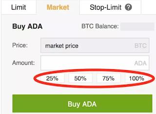 buy cardano ada coin using bitcoin