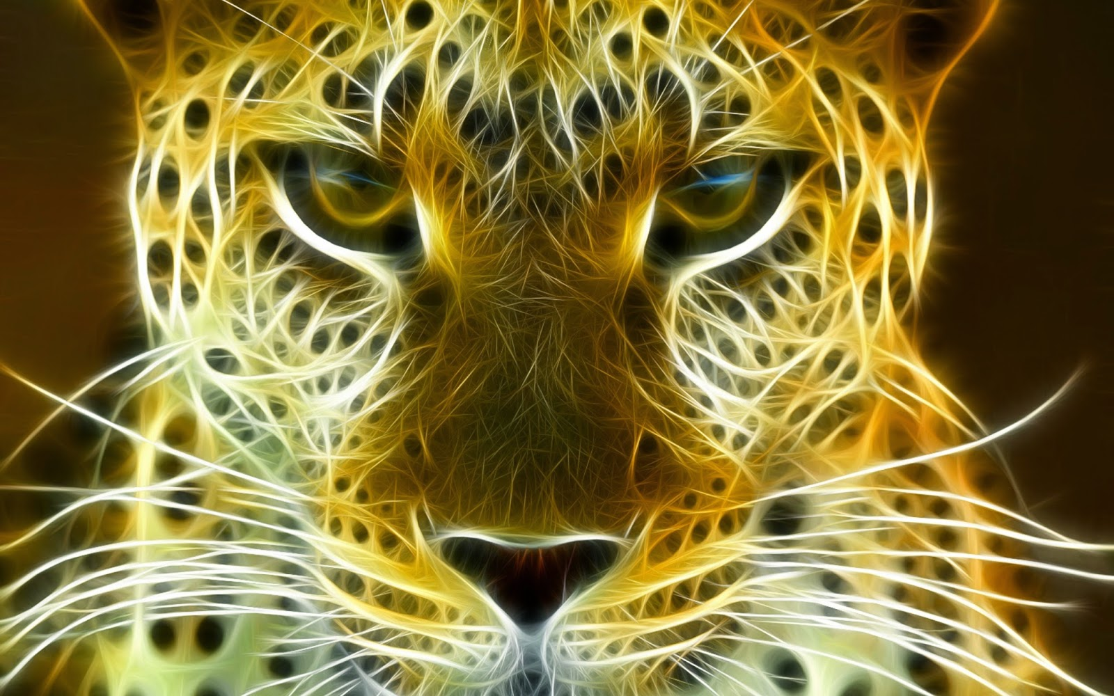 Digital Leopard Art Desktop Wallpaper