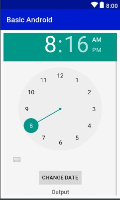 Layout View TimePicker Example