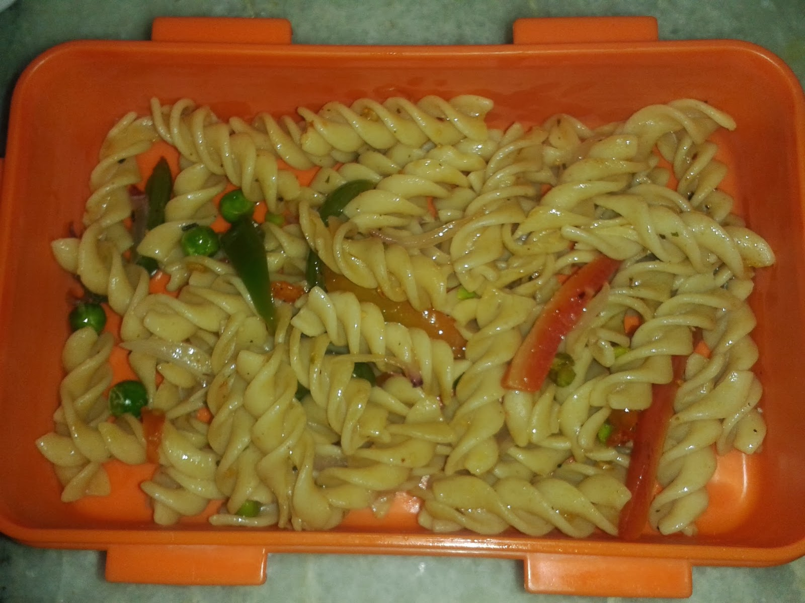Whole Wheat Veggie Pasta Kids Special Lunch Box Recipes