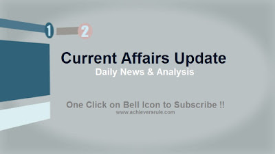 Current Affairs Updates - 2nd November 2017