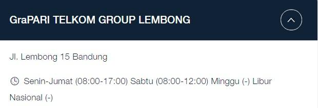 Alamat GraPARI Telkomsel Bandung: Jl. Lembong 15