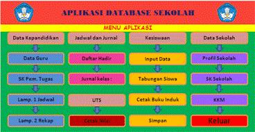 Aplikasi Database Sekolah Terbaru SD SMP dan SMA