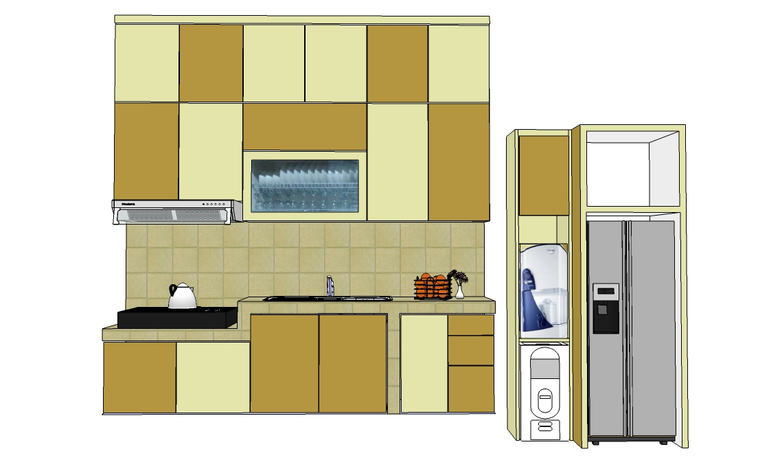 Kitchen set di jl pengantin ali ciracas furniture for Pemasangan kitchen set