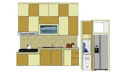 Desain kitchen set minimalis ciracas