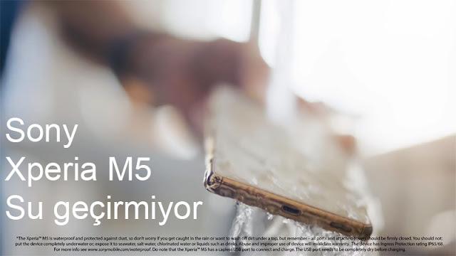 Sony Xperia M5 Su Geçirmez