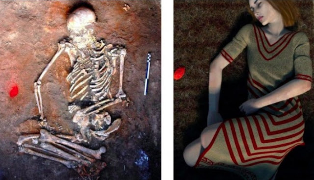 Mysterious decorations discovered on bones of woman buried 4,500 years ago