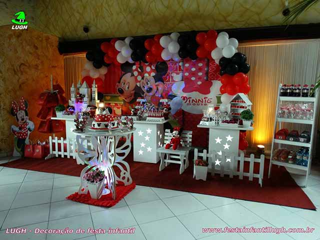 Decoração infantil provençal tema Minnie (vermelha)