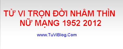 TU VI TRON DOI NHAM  THIN 1952 2012