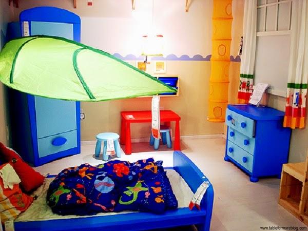 Jolie Décoration chambre bleu enfant