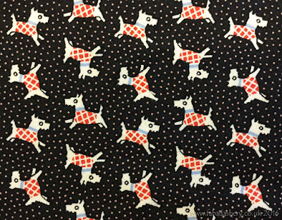 Scottie Dog fabric - 30's Playtime by Chloe's Closet