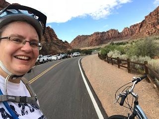 Cycling at Snow Canyon