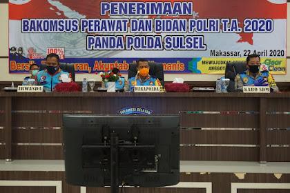 Wakapolda Sulsel Pimpin Sidang Terbuka Menuju Rikkes II Penerimaan Bakomsus Perawat dan Bidan Polri TA 2020