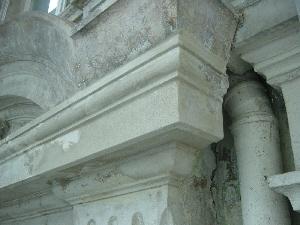 Sandsteinreparatur Sandsteinersatzmasse Sandsteinersatzmörtel Stuck Belz nach der Reparatur