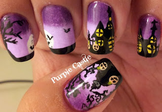 como pintar as unhas Halloween Nail Art