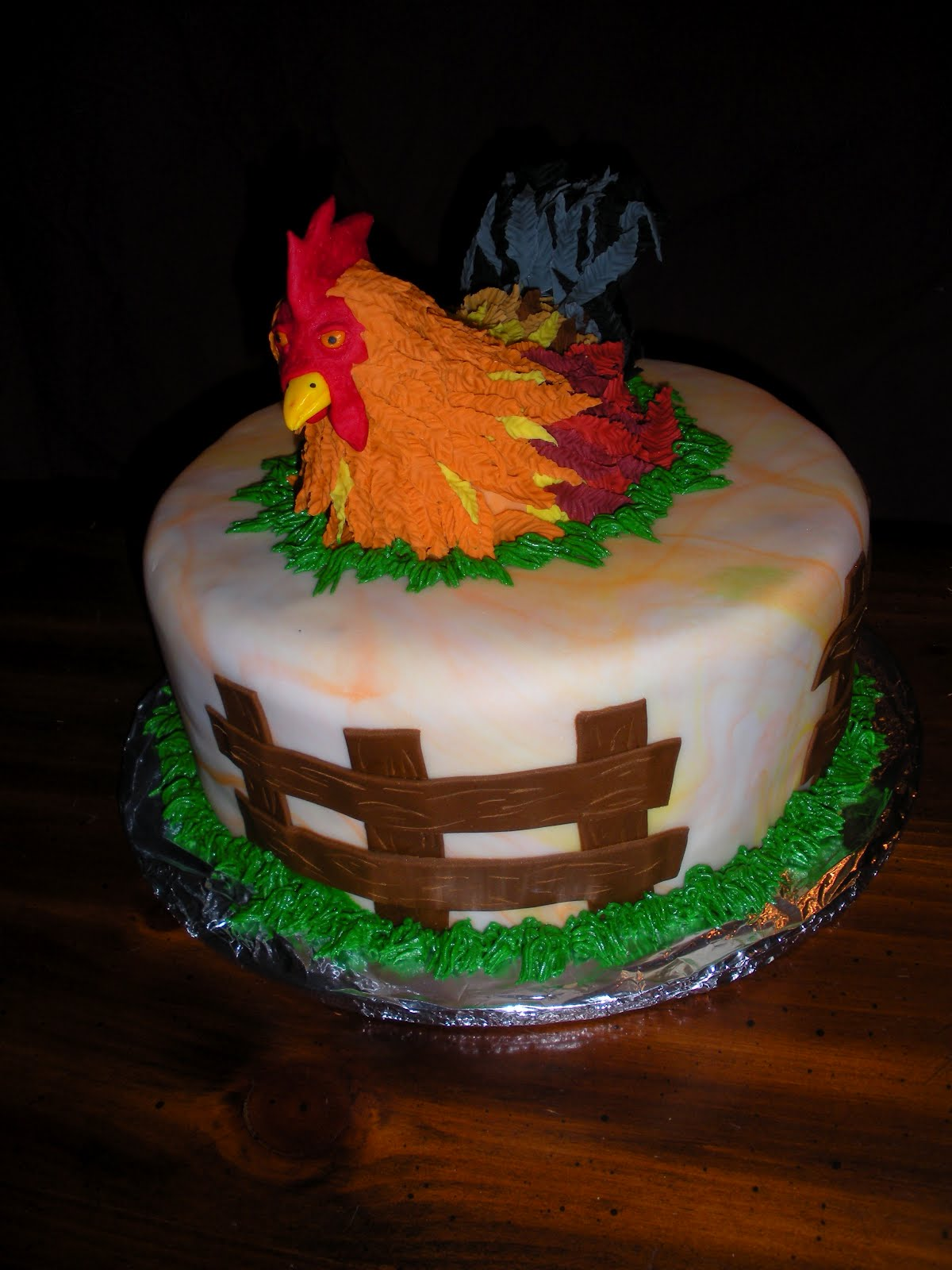 beachy cakes rooster cake