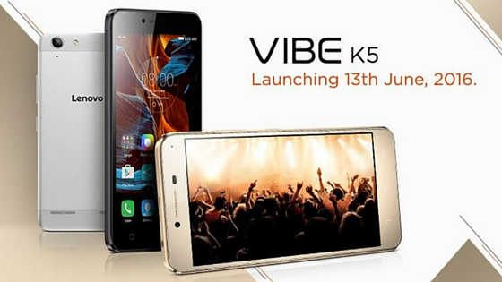 Lenovo Vibe K5 all set to launch in India on June 13th