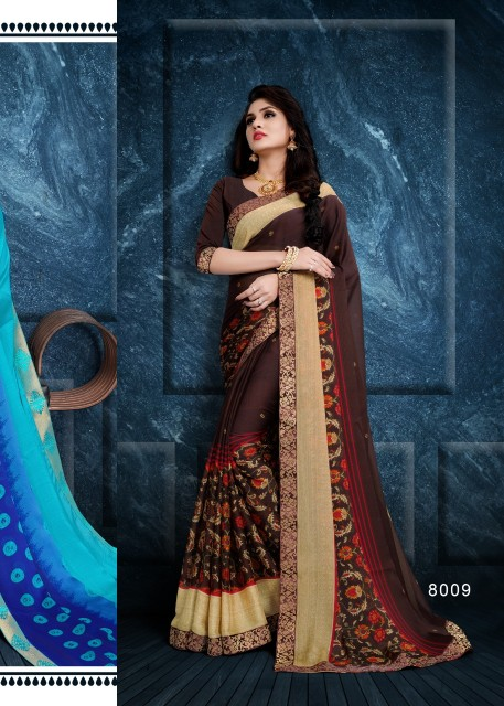 71562f69ca Kodas Corzetti Chiffon printed daily wear Saree catalog wholesaler - Diwan  fashion