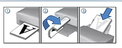 Petunjuk untuk membalikan kertas agar seperti Buku
