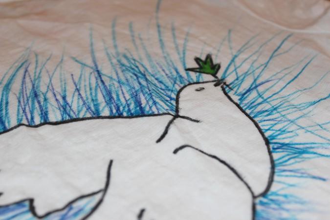 actividades con niños - pintura textil
