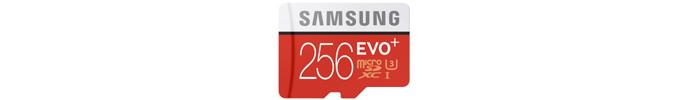 SAMSUNG EVO+ microSDXCカード 256GB