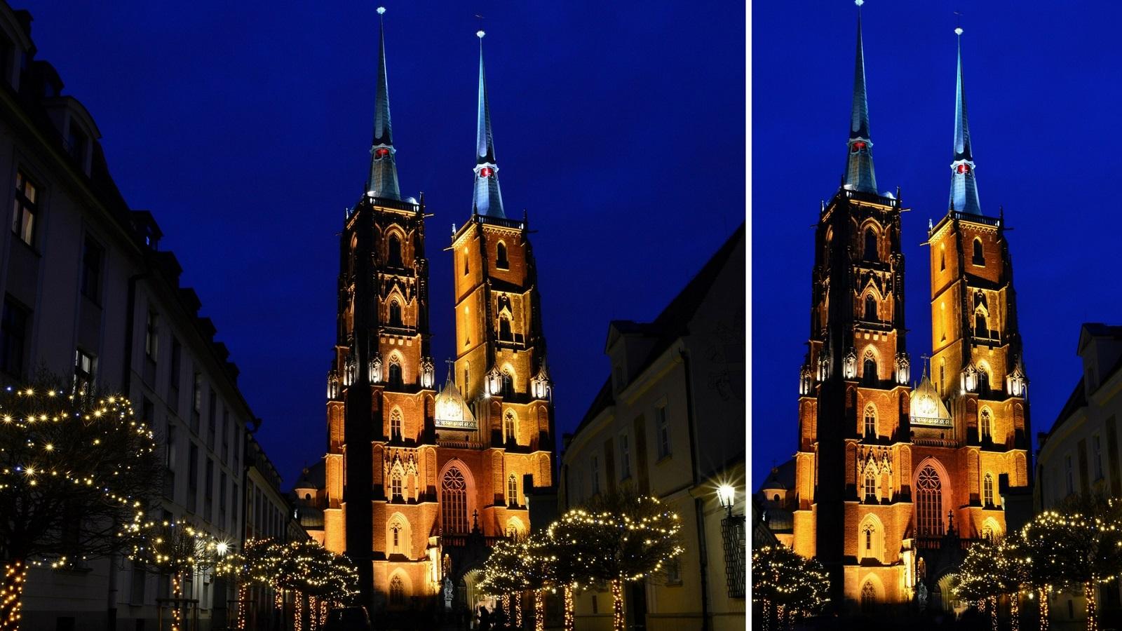 Katedra - Ostrów Tumski nocą - Wrocław