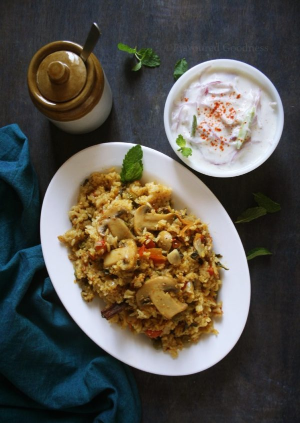 how to make Mushroom Biryani