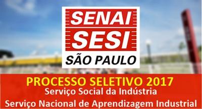 Concurso SESI/SENAI-SP 2017