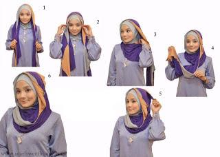 model hijab segi empat style 3