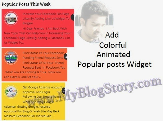 Get Colorful Animated Popular Posts blog widgets here