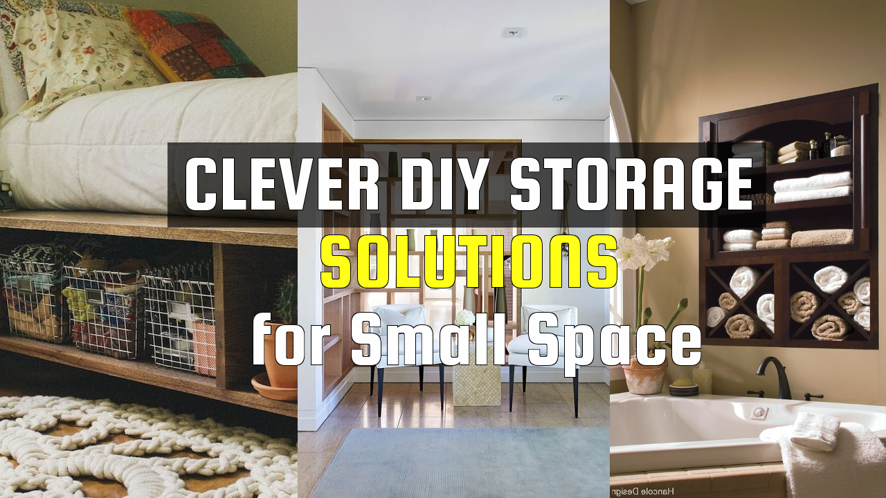 Simply Clever DIY Storage Solutions for Small Space