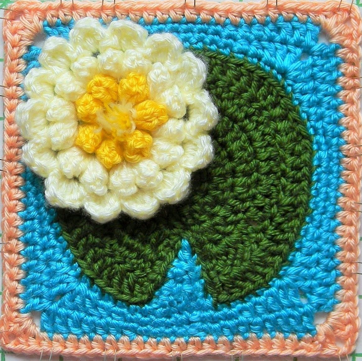 Scrap yarn ideas  - Crocheted Water Lily Flower