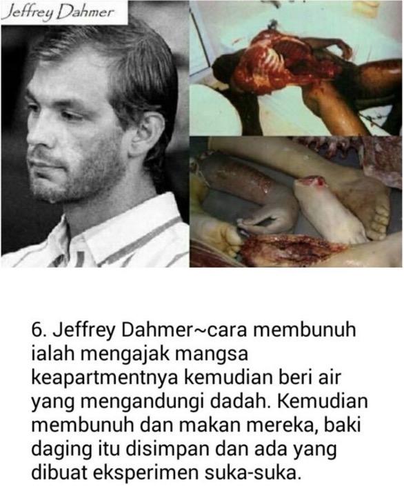15 Kes Pembunuh Kanibal Paling Kejam di Dunia