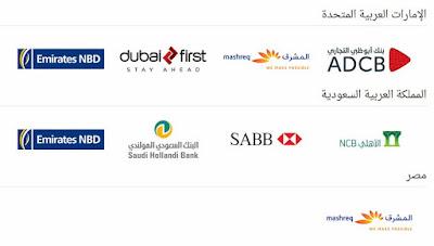 3b5392fda طريقة الدفع الثانية : الدفع على اقساط يمكن الدفع على اقساط من خلال اختيار  البنك المراد التقسيط من خلاله والصورة ادناه توضح البنوك المشاركة عبر موقع  سوق.كوم