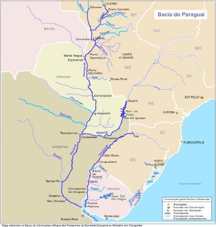 Rio Paraguai e a Bacia do Paraguai