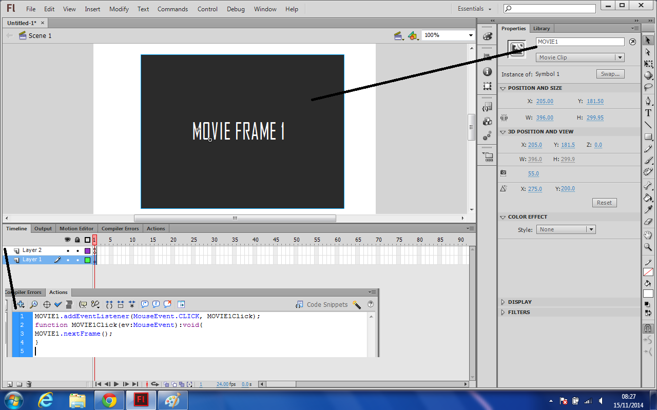 NEXT FRAME ARRAY FUNCTION IN AS3 - Flash College