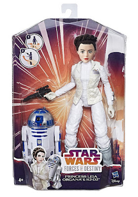 STAR WARS Forces of Destiny - Princesa Leia Organa & R2D2 | Figura - Muñeco | Hasbro 2017 | Serie Web Youtube Disney caja juguete