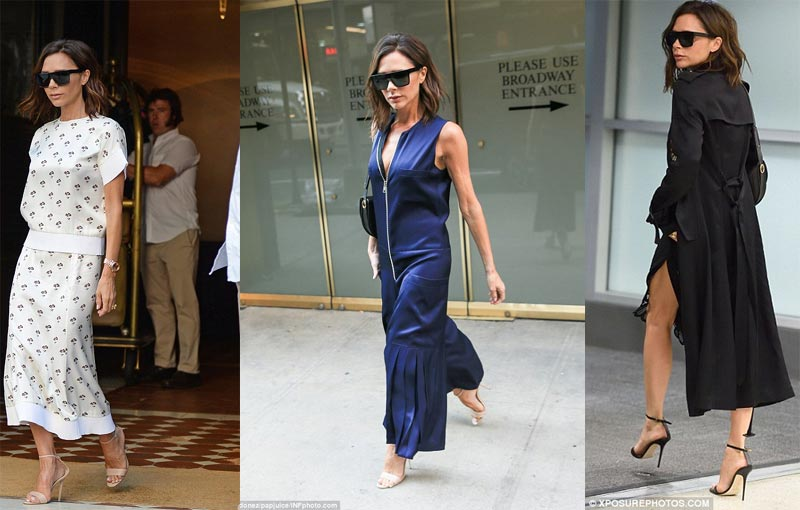 Victoria Beckham steps out in 3 different outfits in one day