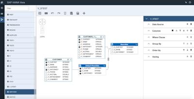 Vora 1.2 Modeling Tool