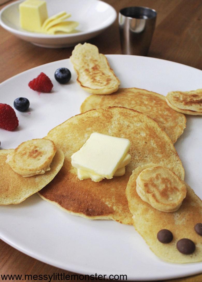 dairy free pancakes. bunny pancakes.